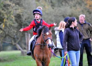 Young rider on a pony
